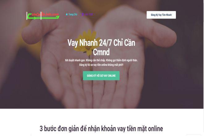 Website vay tiền online vncash24h.com