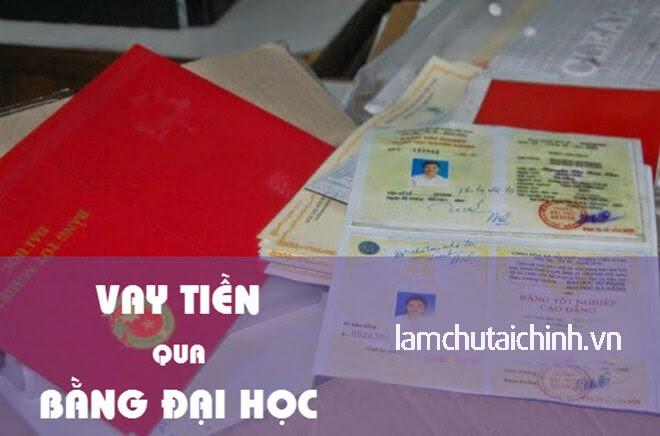 vay the chap bang dai hoc